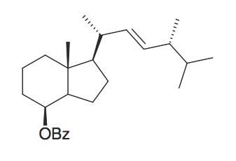 (S)-Benzoic acid 7R-methyl-1R-(1R,4R,5-trimethyl-hex-2-enyl)-octahydro-inden-4-yl ester