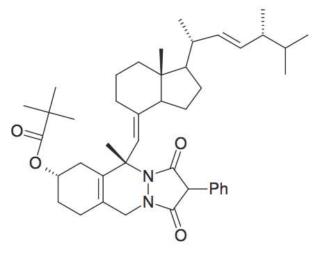 2,2-Dimethyl-propionic acid 5S-methyl-5-[7R-methyl-1-(1R,4R,5-trimethyl-hex-2-enyl)-octahydro-inden-4-ylidenemethyl]-1,3-dioxo-2-phenyl-2,3,5,6,7,8,9,10-octahydro-1H-pyrazolo[1,2-β]phthalazin-7S-ylester