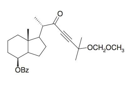 Benzoic acid 1S-(5-methoxymethoxy-1S,5-dimethyl-2-oxo-hex-3-ynyl)-7R-methyl-octahydro-inden-4-yl ester