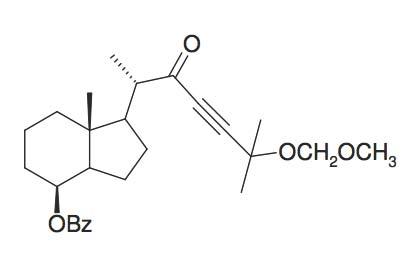 Benzoic acid 1S-(5-methoxymethoxy-1S,5-dimethyl-2-oxo-hex-3-ynyl)-7R-methyl-octahydro-inden-4-yl ester