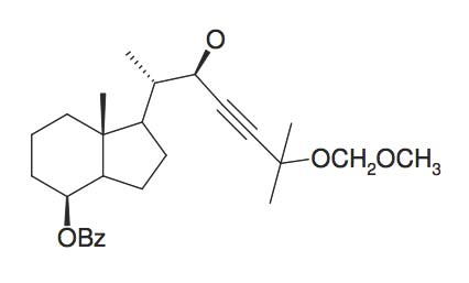 Benzoic acid 1S-(2R-hydroxy-5-methoxymethoxy-1S,5-dimethyl-hex-3-ynyl)-7R-methyl-octahydro-inden-4-ylester