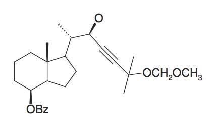 Benzoic acid 1S-(2R-hydroxy-5-methoxymethoxy-1S,5-dimethyl-hex-3-ynyl)-7R-methyl-octahydro-inden-4-ylester