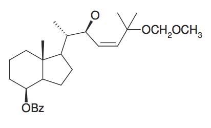 Benzoic acid 1S-(2S-hydroxy-5-methoxymethoxy-1S,5-dimethyl-hex-3-enyl)-7R-methyl-octahydro-inden-4-ylester