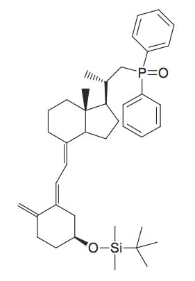 tert-Butyl-[3S-(2-(1R-[2-(diphenyl-phosphinoyl)-1S-methyl-ethyl]-7R-methyl-octahydro-inden-4-ylidene)-ethylidene)-4-methylene-cyclohexyloxy]-dimethyl-silane