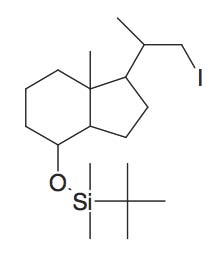tert-Butyl-[1-(2-iodo-1-methyl-ethyl)-7a-methyl-octahydro-inden-4-yloxy]-dimethyl-silane
