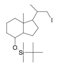 tert-Butyl-[1-(2-iodo-1-methyl-ethyl)-7a-methyl-octahydro-inden-4-yloxy]-dimethyl-silane