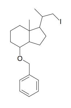 4-Benzyloxy-1-(2-iodo-1-methyl-ethyl)-7a-methyl-octahydro-indene