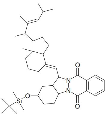 2-(tert-Butyl-dimethyl-silanyloxy)-13-[7a-methyl-1-(1,2,4-trimethyl-pent-2-enyl)-octahydro-inden-4-ylidenemethyl]-2,3,4,4a,13,13a-hexahydro-1H-indazolo[1,2-β]phthalazine-6,11-dione
