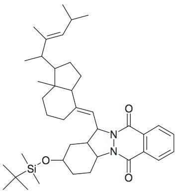2-(tert-Butyl-dimethyl-silanyloxy)-13-[7a-methyl-1-(1,2,4-trimethyl-pent-2-enyl)-octahydro-inden-4-ylidenemethyl]-2,3,4,4a,13,13a-hexahydro-1H-indazolo[1,2-β]phthalazine-6,11-dione
