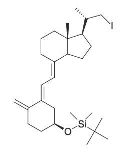 tert-Butyl-(3-(2-[1-(2-iodo-1-methyl-ethyl)-7a-methyl-octahydro-inden-4-ylidene]-ethylidene)-4-methylene-cyclohexyloxy)-dimethyl-silane