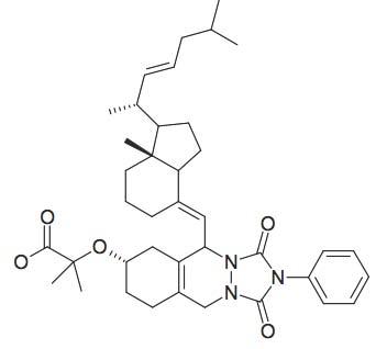 2-(5-[1-(1,5-Dimethyl-hex-2-enyl)-7a-methyl-octahydro-inden-4-ylidenemethyl]-1,3-dioxo-2-phenyl-2,3,5,6,7,8,9,10-octahydro-1H-[1,2,4]triazolo[1,2-β]phthalazin-7-yloxy)-2-methyl-propionic acid