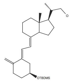 2-(4-(2-[5S-(tert-Butyl-dimethyl-silanyloxy)-2-methylene-cyclohexylidene]-ethylidene)-7R-methyl-octahydro-inden-1-Ryl)-(S)-propan-1-ol