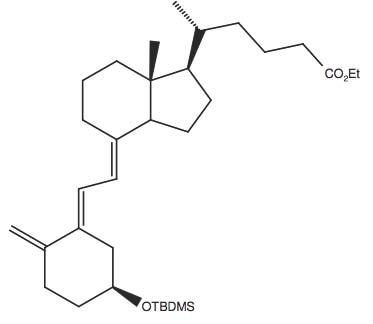 5-(4-(2-[5S-(tert-Butyl-dimethyl-silanyloxy)-2-methylene-cyclohexylidene]-ethylidene)-7R-methyl-octahydro-inden-1R-yl)-(R)-hexanoic acid ethyl ester