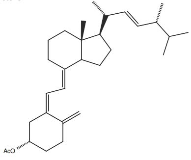 (S)-Acetic acid 4-methylene-3-(2-[7R-methyl-1R-(1R,4R,5-trimethyl-hex-2-enyl)-octahydro-inden-4-ylidene]-ethylidene)-cyclohexyl ester