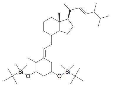 4-(2-[3,5-Bis-(tert-butyl-dimethyl-silanyloxy)-2-methyl-cyclohexylidene]-ethylidene)-7a-methyl-1-(1,4,5-trimethyl-hex-2-enyl)-octahydro-indene