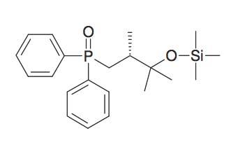 [3-(Diphenyl-phosphinoyl)-1,1,2R-trimethyl-propoxy]-trimethyl-silane