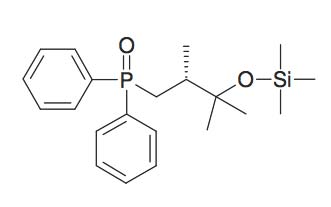 [3-(Diphenyl-phosphinoyl)-1,1,2R-trimethyl-propoxy]-trimethyl-silane