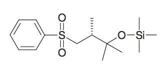 (3-Benzenesulfonyl-1,1,2R-trimethyl-propoxy)- trimethyl-silane