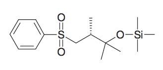 (3-Benzenesulfonyl-1,1,2R-trimethyl-propoxy)- trimethyl-silane