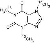 Caffeine-<sup>13</sup>C<sub>3</sub> (1.0 mg/mL in Methanol)
