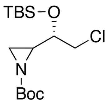 N-t-Boc-2R-1S-butyldimethylsilyloxy-2-chloroethyl)aziridine