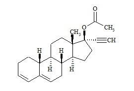Ethynodiol Impurity (17-alfa-Ethinyl-17-beta-Acettoxy-3,5-Estradien Impurity)
