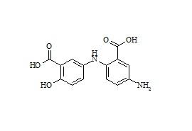 Mesalamine Impurity (2-Hydroxy-5-amino-N-(2-carboxy-4-aminophenyl)benzoic Acid)