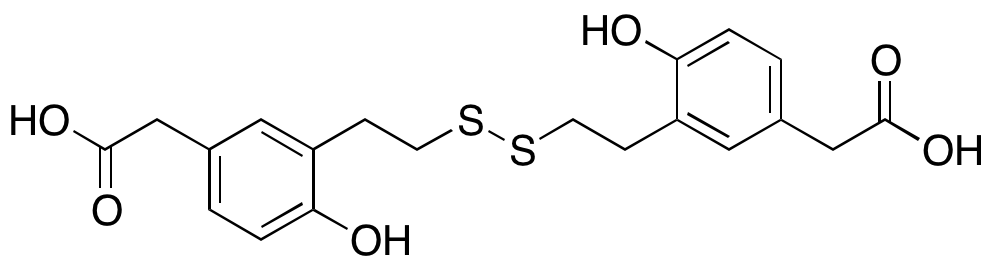 2,2'-((Disulfanediylbis(ethane-2,1-diyl))bis(4-hydroxy-3,1-phenylene))diacetic Acid