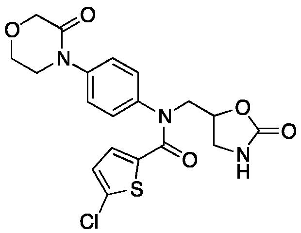 N-(5-Oxazolidinyl]methyl)-N-(5-chloro-2-thiophenecarbonyl)-4-(3-oxo-4-morpholinyl)aniline