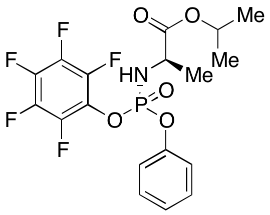 N-[(S)-(2,3,4,5,6-Pentafluorophenoxy)phenoxyphosphinyl]-D-alanine 1-Methylethyl Ester