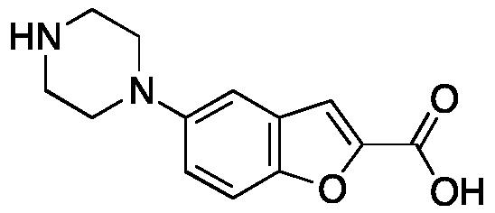 5-(1-Piperazinyl)benzofuran-2-carboxylic Acid