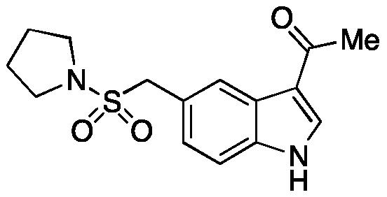 1-(5-((Pyrrolidin-1-ylsulfonyl)methyl)-1H-indol-3-yl)ethanone