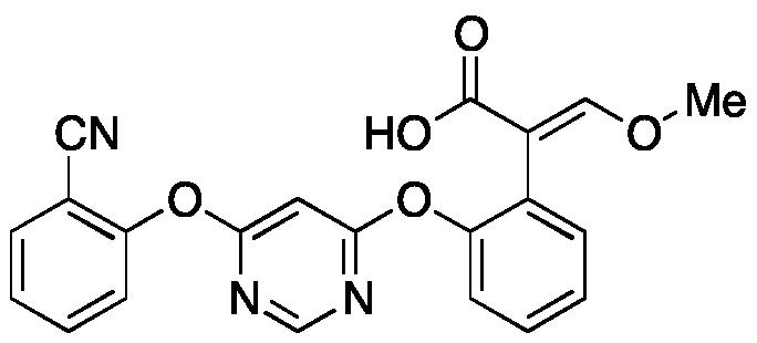 (E)-2-(2-((6-(2-Cyanophenoxy)pyrimidin-4-yl)oxy)phenyl)-3-methoxyacrylic Acid(R234886)