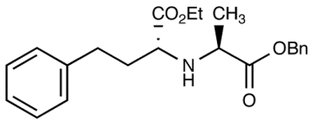 (-)-N-(1-R-Ethoxycarbonxyl-3-phenylpropyl)-S-alanine, Benzyl Ester