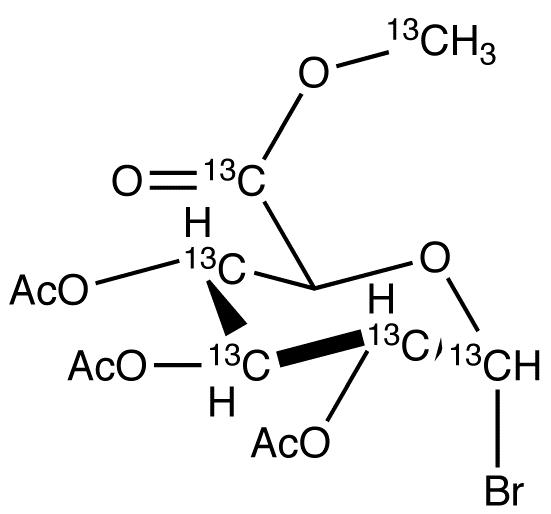 Acetobromo-&#945;-D-glucuronic acid-<sup>13</sup>C<sub>6</sub> methyl ester