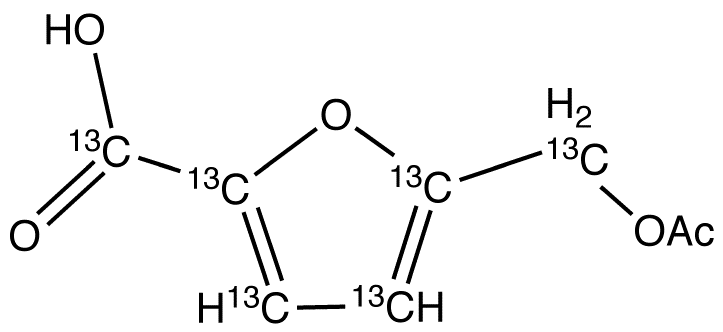 5-Acetoxymethyl-2-furancarboxylic Acid-<sup>13</sup>C<sub>6</sub>