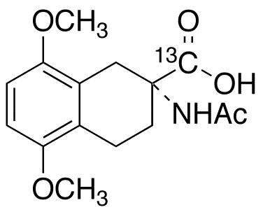 2-(Acetylamino)-1,2,3,4-tetrahydro-5,8-dimethoxy-2-naphthalenecarboxylic Acid-<sup>13</sup>C
