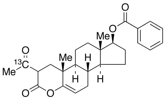 (17β)-2-(Acetyl-<sup>13</sup>C)-17-(benzoyloxy)-4-oxaandrost-5-en-3-one
