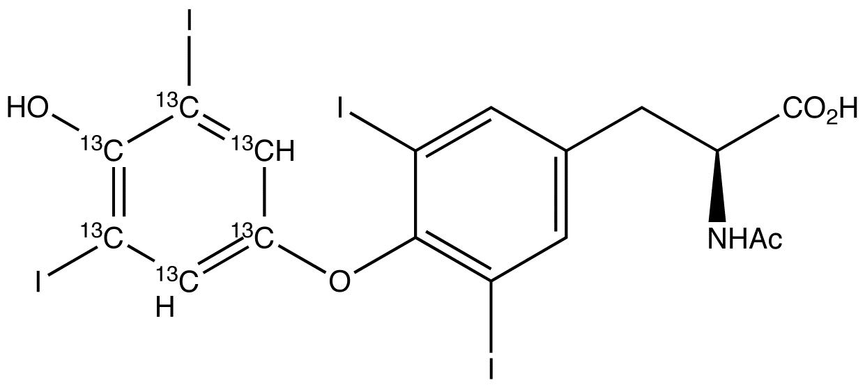 N-Acetyl L-thyroxine-<sup>13</sup>C<sub>6</sub>