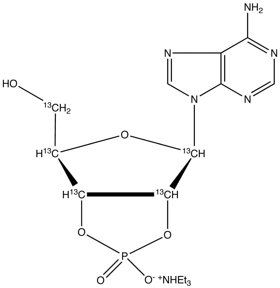 Adenosine 2&#146;,3&#146;-Cyclic Phosphate-<sup>13</sup>C<sub>5</sub> Triethylammonium Salt