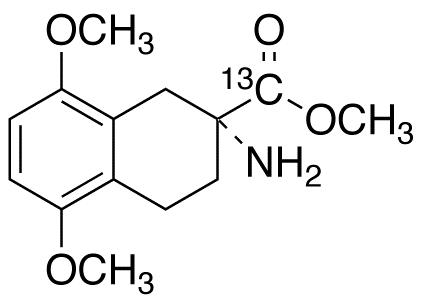 (2R)-2-Amino-1,2,3,4-tetrahydro-5,8-dimethoxy-2-naphthalenecarboxylic Acid Methyl Ester-<sup>13</sup>C