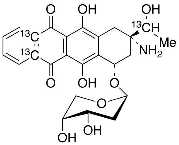 Amrubicinol-<sup>13</sup>C<sub>3</sub> (Mixture of Diastereomers)