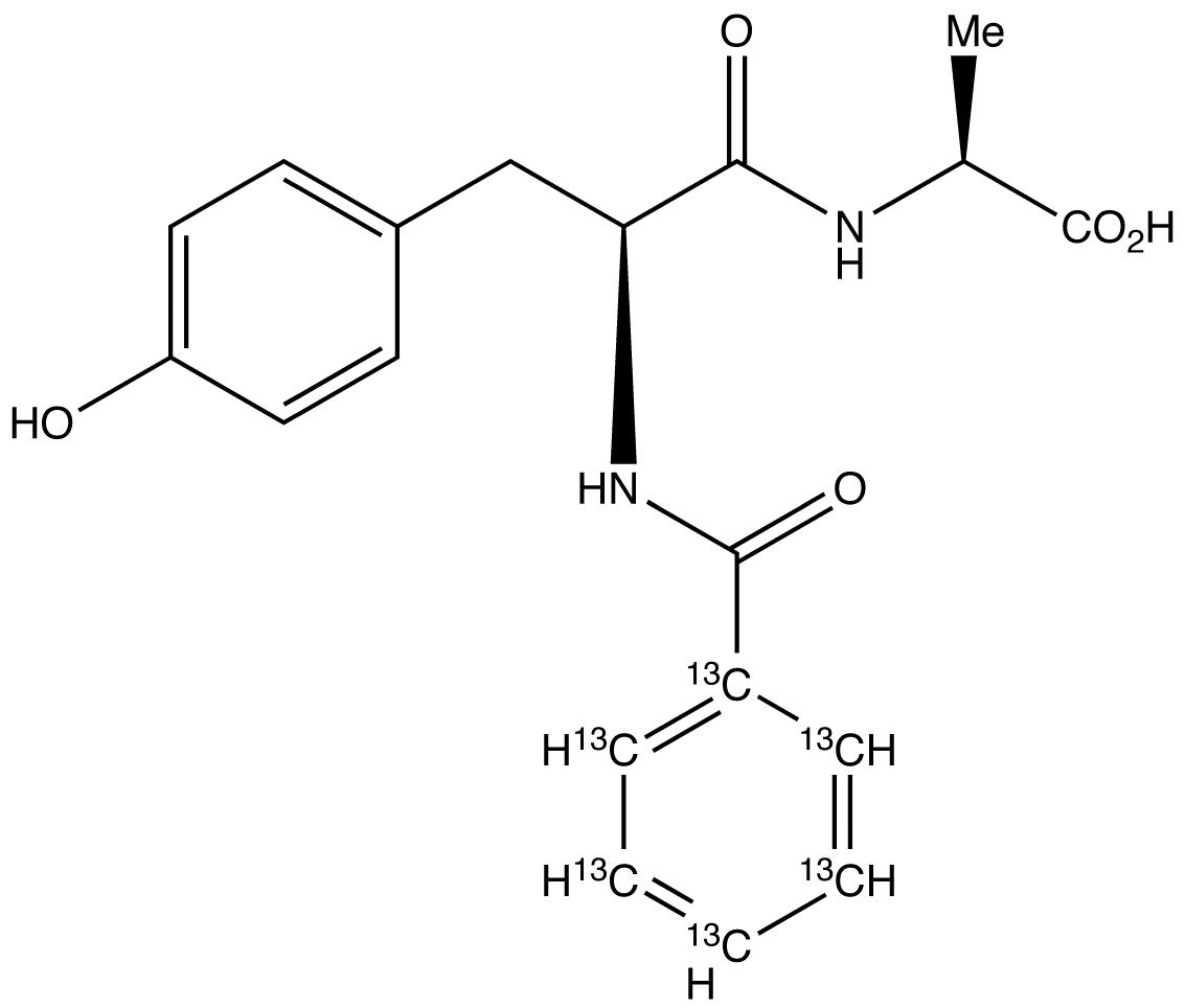 N-(N-Benzoyl-L-tyrosyl)-L-alanine-<sup>13</sup>C<sub>6</sub>