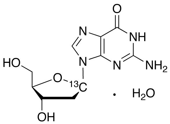 2&#146;-Deoxyguanosine-1-<sup>13</sup>C monohydrate
