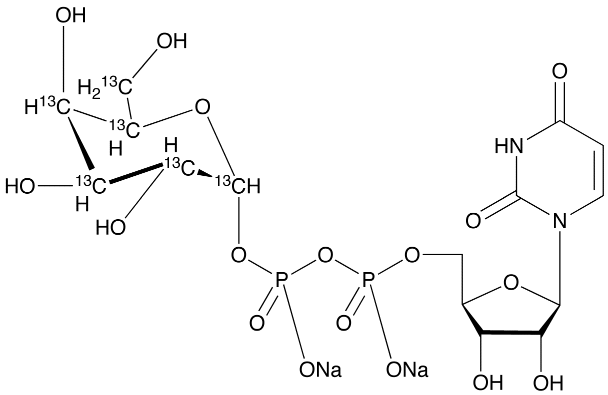 Uridine Diphosphate-α-D-[UL-<sup>13</sup>C<sub>6</sub>]galactose Disodium Salt