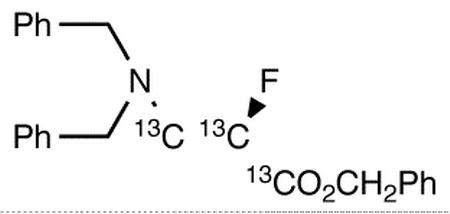 Benzyl(2R)-3-N,N-Dibenzylamino-2-fluoropropanoate-<sup>13</sup>C<sub>3</sub>