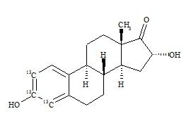 16-α Hydroxyestrone-<sup>13</sup>C<sub>3</sub>