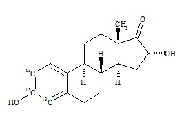16-&#945; Hydroxyestrone-<sup>13</sup>C<sub>3</sub>