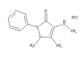 Metamizole Impurity C (4-Methylaminoantipyrine) HCl