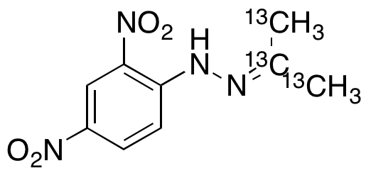 Acetone 2,4-dinitrophenylhydrazone-<sup>13</sup>C<sub>3</sub>